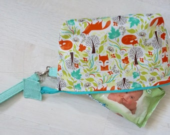 Limited Edition Foxes Nappy Clutch Bag