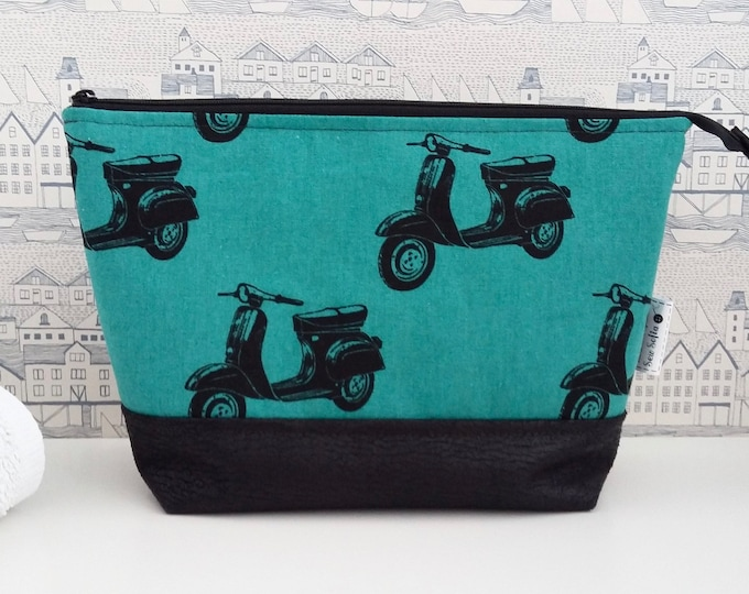 Featured listing image: Retro Scooters Large Toiletry Bag