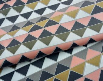 Nomad Prisms organic laminated cotton fabric
