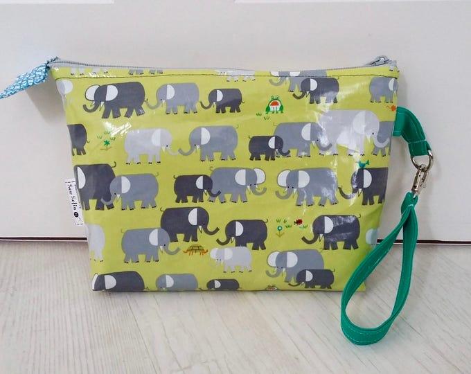 Elephants Nappy Clutch Bag