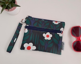 NEW Black Forest wipe clean wristlet pouch