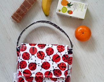 Ladybirds wipe clean girl's insulated lunch bag