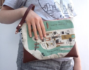 New York + Amsterdam Travel Wallet Wristlet