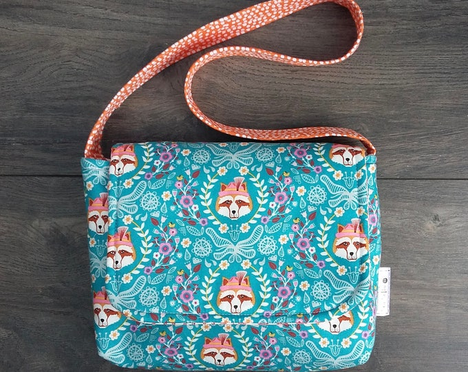 Featured listing image: Foxes and Flowers Mini Messenger Bag
