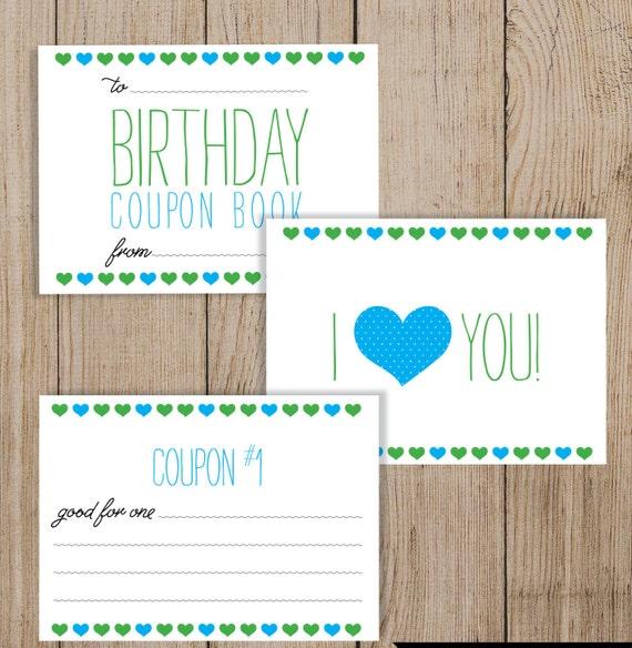 printable birthday coupon book editable pdf diy birthday etsy