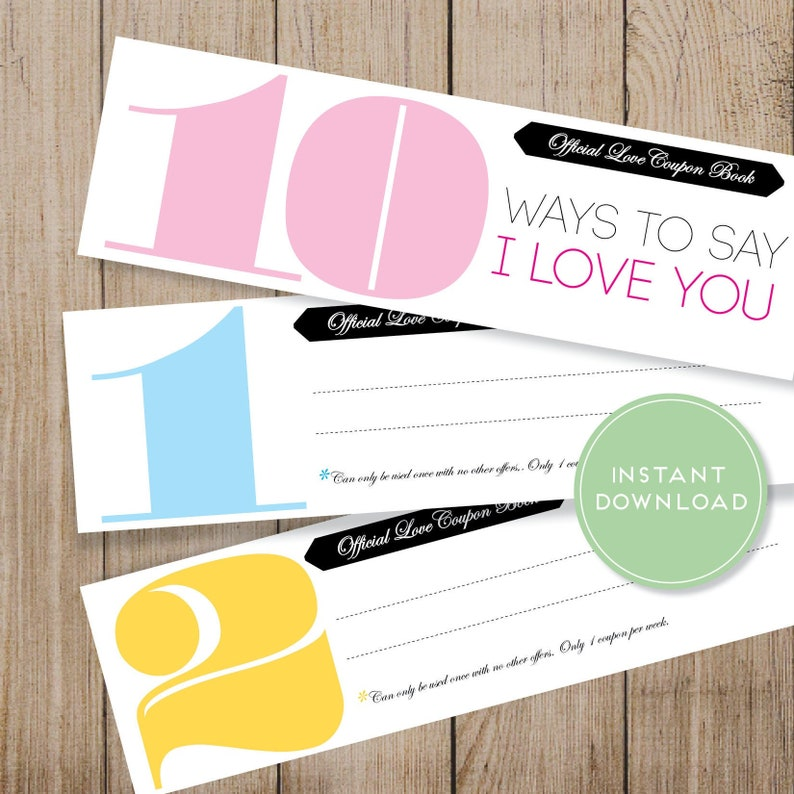 Custom Love Coupon Book Printable | Free Mother's Day gift ideas | Beanstalk Single Mums