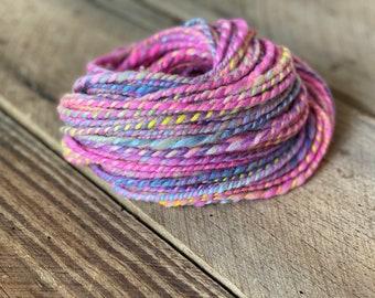 Knitting Merino and Bamboo Yarn Hand spun Weaving Yarn for Crochet Onyx Black