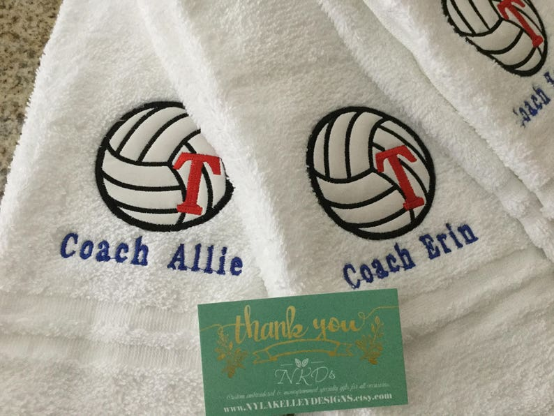 1 Top Selling Sporting Towel w/letter Coach Basketball Baseball Football  Soccer Tennis Track Embroidered Personalized Sports Towel Gifts