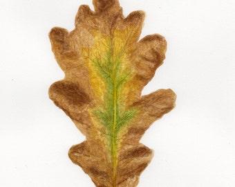 Autumn Oak Leaf Botanical Watercolour - Original Watercolour
