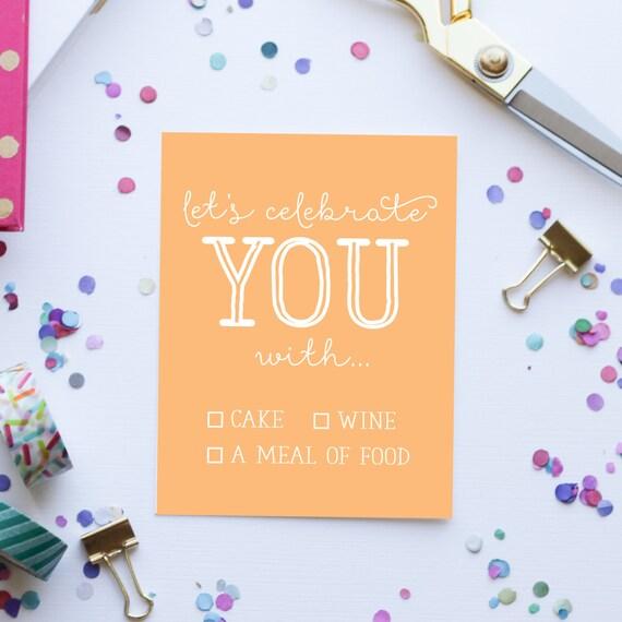 Wine Birthday Card Lets Celebrate You Bday