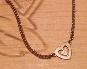 x Vintage Gold Avon Triple Heart Bracelet