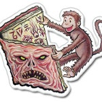 Necronomicon Monkey Vinyl Sticker