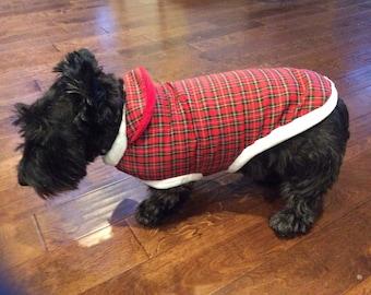on sale e9cee d18ba Tartan dog sweater | Etsy