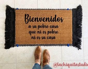 Bienvenidos a su pobre casa doormat | funny doormat in Spanish | doormat Spanish | doormat in español | doormat Latin