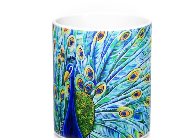 Royal Peacock | Durable Ceramic Coffee Mug 11oz