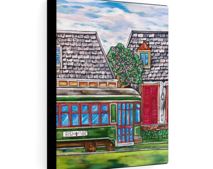 Streetcar Named Desire | Various Sizes | Architectural Art | Home Decor | Canvas Gallery Wrap | Wall Art | Reproduction