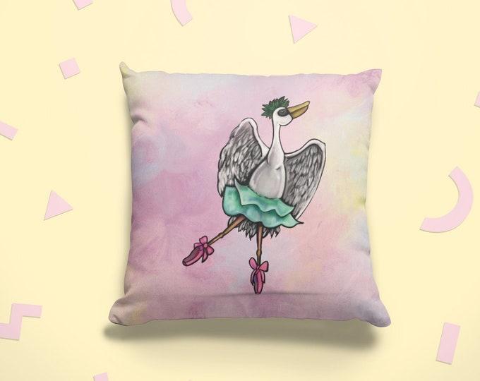 Pelican Ballerina | Spun Polyester Square Pillow