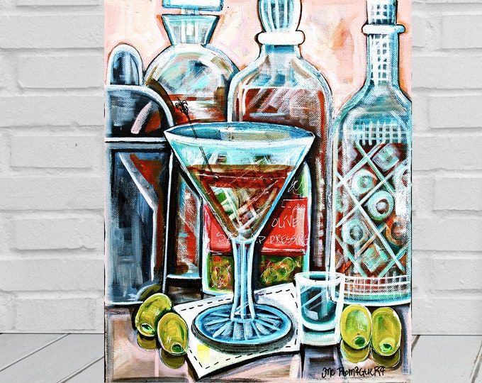 Dirty Martini | Canvas Gallery Wraps | Martini Cocktail Painting | Various Sizes
