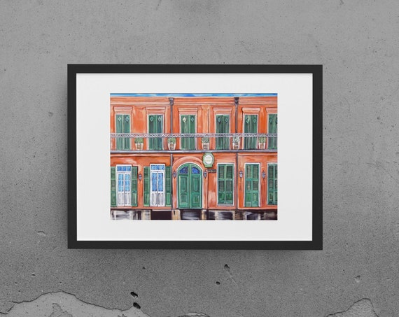 Pat O'Brien Fine Art Print, New Orleans Architecture Wall Art, Landmark Bar Art, Various Size Reproduciton, Premium Horizontal Wall Art