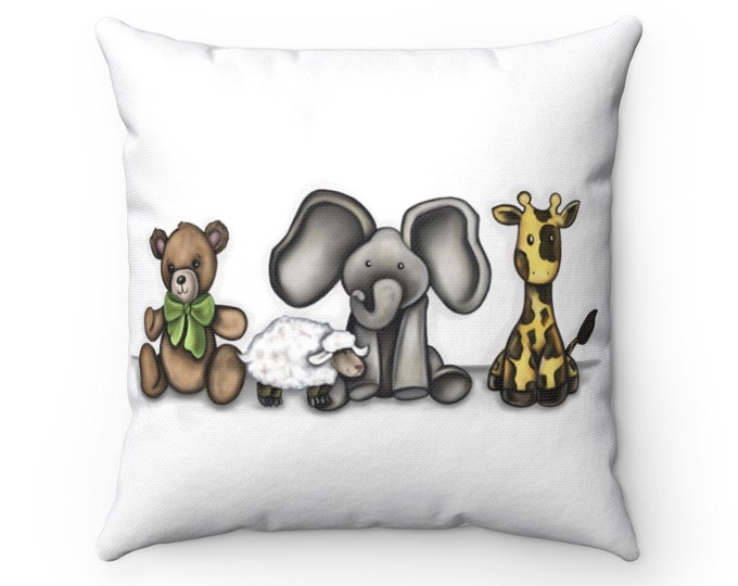Best Friends | Spun Polyester Square Pillow | Various Sizes