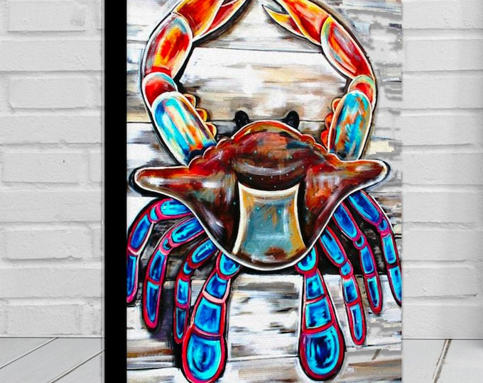 Crab On The Plank | Canvas Gallery Wraps | Nautical Theme Wall Art | Home Decor | Various Sizes