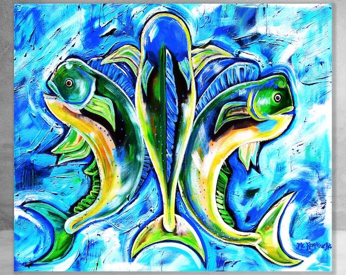 Dolphin De Lis | Canvas Gallery Wraps | Various Sizes