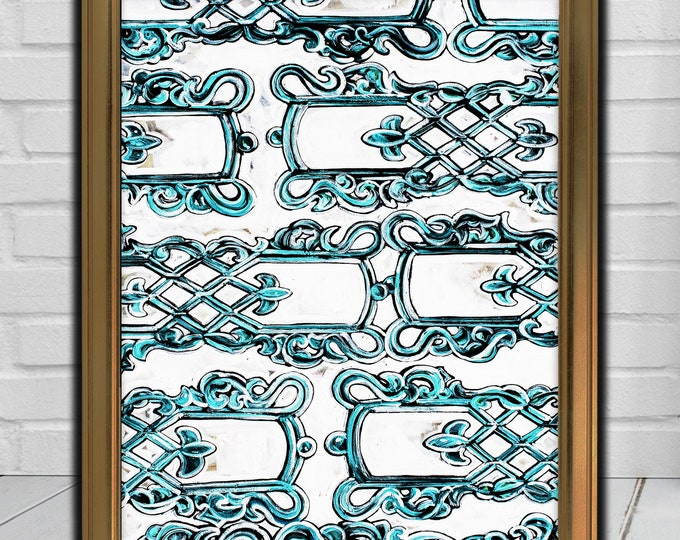 Wrought Iron Abstract   Premium Matte Vertical Poster Print   Modern Artwork   Various Sizes