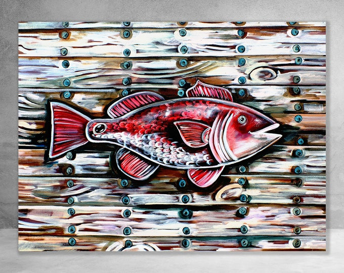 Redfish On The Plank | Canvas Gallery Wraps | Various Sizes