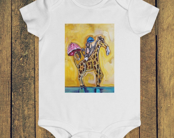 Monkey and Giraffe Second Line | Infant Rip Snap Tee