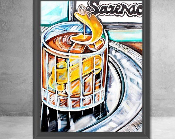 Sazerac Bar   Premium Matte Vertical Print   Various Sizes