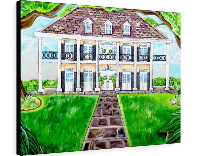 Oak Alley Plantation  | Various Sizes | Architectural Art | Home Decor | Canvas Gallery Wrap | Wall Art | Reproduction