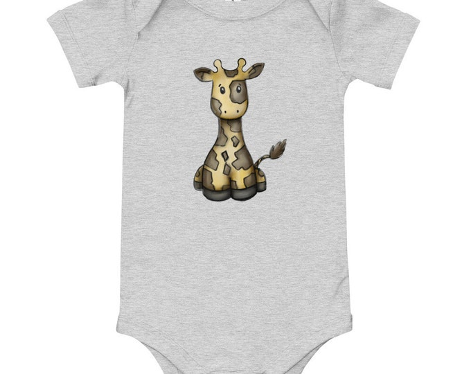 Cute Watercolor Giraffe | Baby T-Shirt | Oneise | Various Sizes and Colors | Prefect Baby Gift