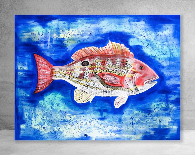 Lane Snapper | Canvas Gallery Wraps | Various Sizes