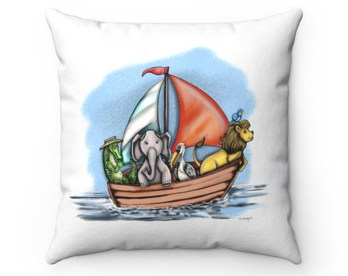 Boating Buddies | Spun Polyester Square Pillow