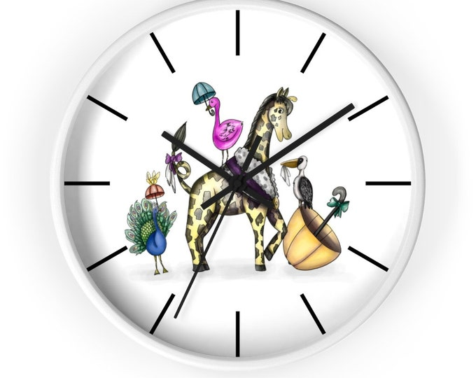 Happy Second Line | Wall clock | Various Colors