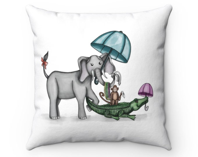 Animal Second Line Pillow | Spun Polyester Square Pillow