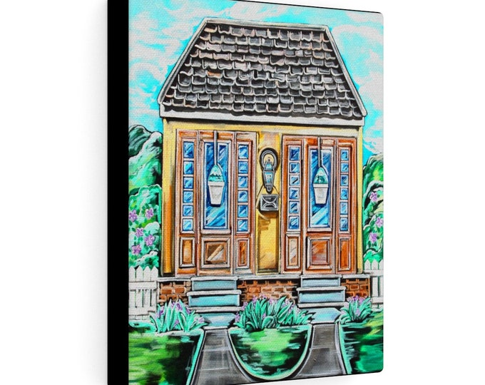 Uptown Duplex | Various Sizes | Architectural Art | Home Decor | Canvas Gallery Wrap | Wall Art | Reproduction