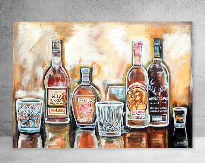 Kentucky Bourbon | Canvas Gallery Wraps | Various Sizes
