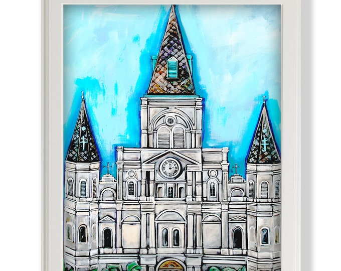 Spires of St. Louis Cathedral | Premium Matte Print | Various Sizes | Architectural Art | Reproduction | Unframed