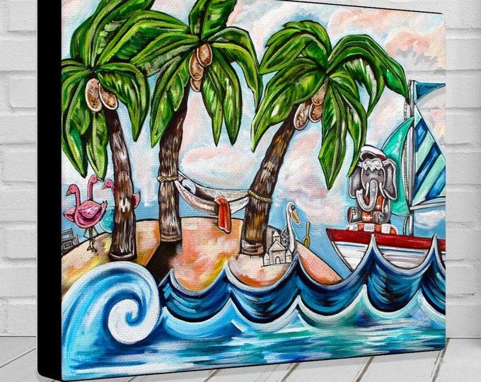 Beach Time   Gallery Warped Canvas