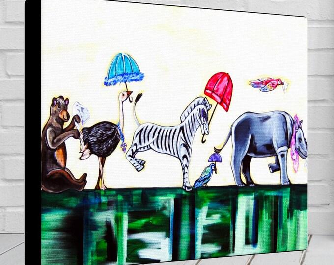 Jungle Promenade | Canvas Gallery Wrap