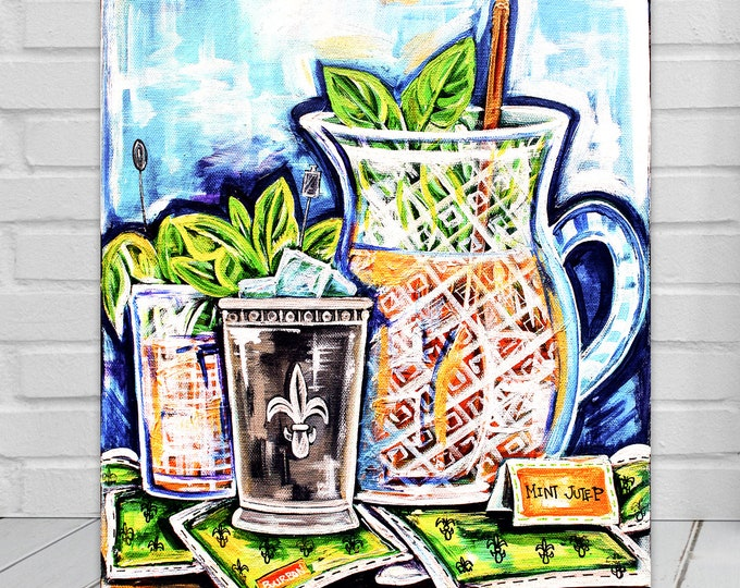 Pitcher Full of Juleps | Canvas Gallery Wraps | Mint Julep Artwork | Various Sizes