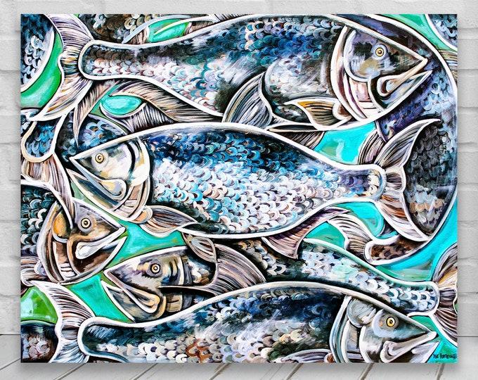 Tarpon's Tale | Canvas Gallery Wraps  | Nautical Wall Art Deco| Various Sizes
