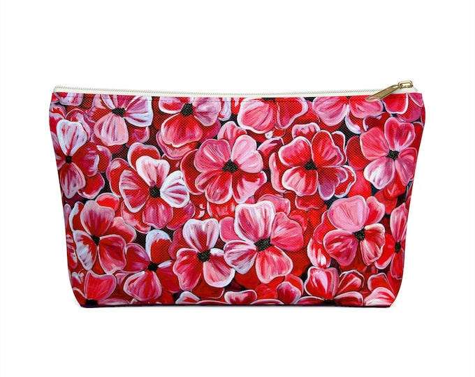 Poppies | Accessory Pouch w T-bottom  | Durable Make-up, Jewelry, Pencil, Cosmetic, Travel Bag | Various Sizes
