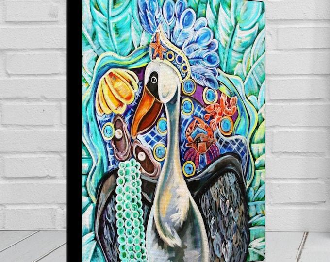 Pelican As A Maid   Canvas Gallery Wrap