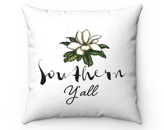 Southern Y'all | Spun Polyester Square Pillow