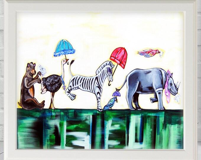 Jungle Promenade | Premium Matte Print