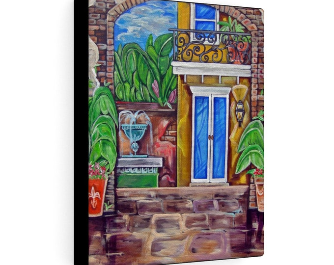 Study of Courtyard Alley | Various Sizes | Architectural Art | Home Decor | Canvas Gallery Wrap | Wall Art | Reproduction