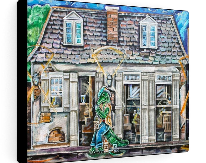 Cajun at The Blacksmith's Bar | Various Sizes | Architectural Art | Home Decor | Canvas Gallery Wrap | Wall Art | Reproduction