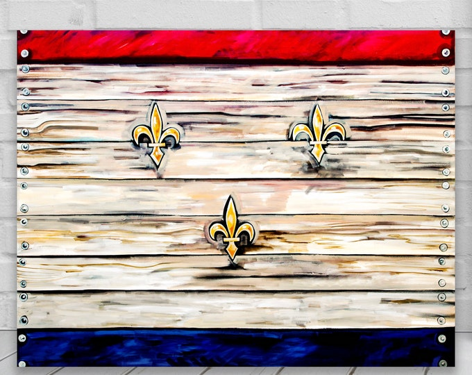 Flag of Nola | Canvas Gallery Wraps | New Orleans Flag Wall Decor | Various Sizes